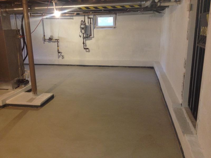 Basement floor lowering keystone waterproofing restoration